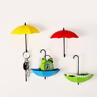 Крючок - Ключница универсальная Зонтики для мелочей 3шт/уп, фото 1