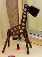 """Деревянная лампа """"CH"""" Жираф (натуральное дерево)"""