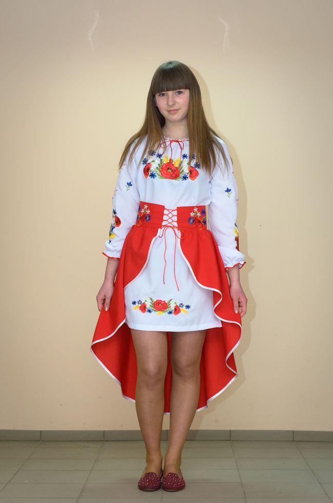 Костюм вышитый Волинські візерунки  на девочку-подростка Полевые цветы 158 см