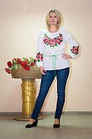 Женская блуза-туника вышитая бисером