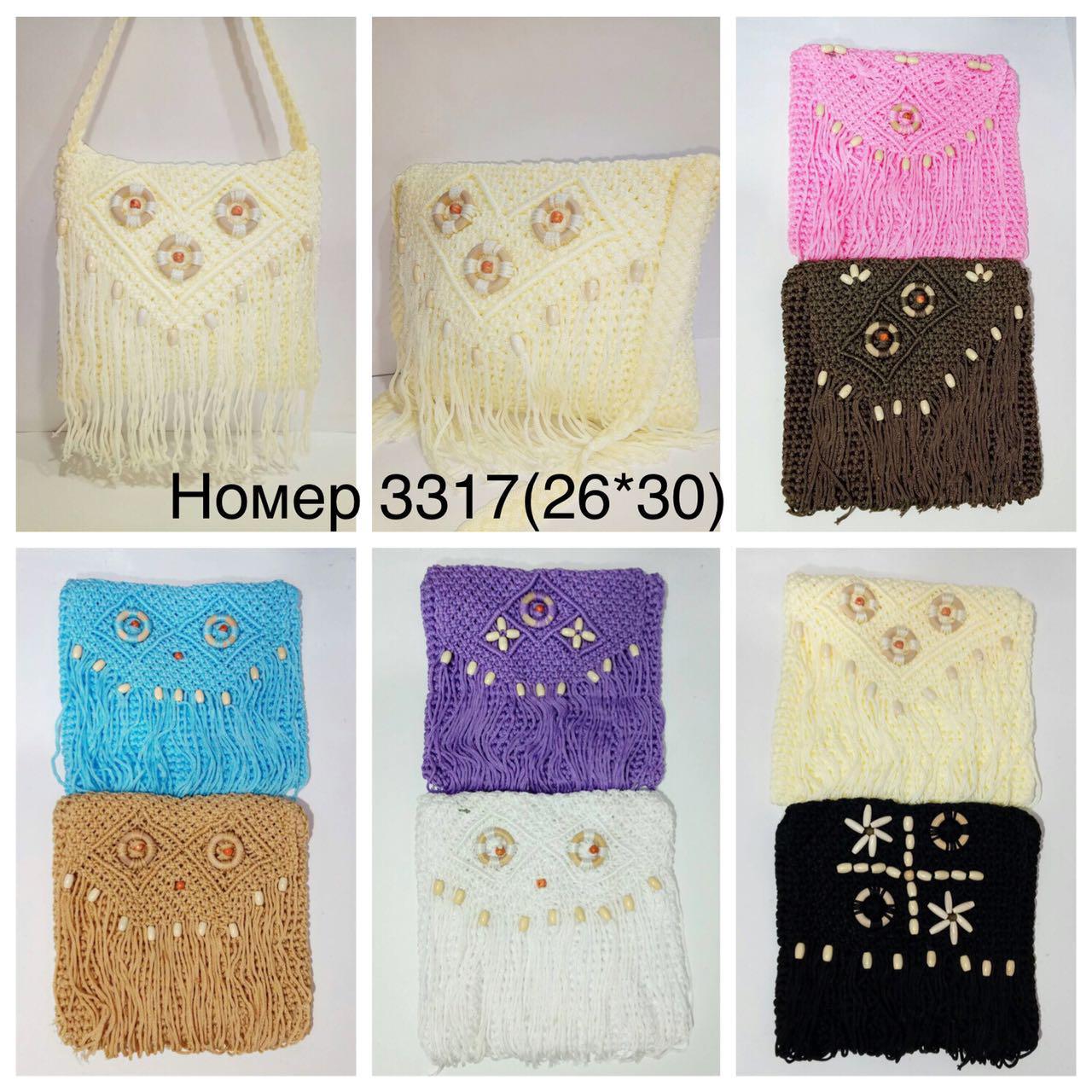 Женская вязанная сумочка мод.3317
