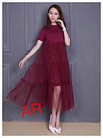 Легкое стильное платье (4 цвета)