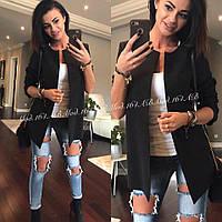Пиджак женский  кардиган модный стильный черный мята белый... 42 44 46 48 50 Р, фото 1