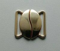 Застежки для купальников золото метал 20мм