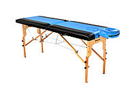 Стол массажный деревянный 2х секционный, кушетка, для наращивания ресниц, RELAX.ШИРИНА 80см, фото 1