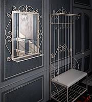 Передпокій (вішалка+дзеркало) Амбер метал ТМ Тенеро, фото 1