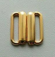 Застежки для купальников золото метал 15мм