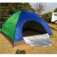 Палатка для отдыха сине-зеленая 2*2.5 м ( палатка туристическая )