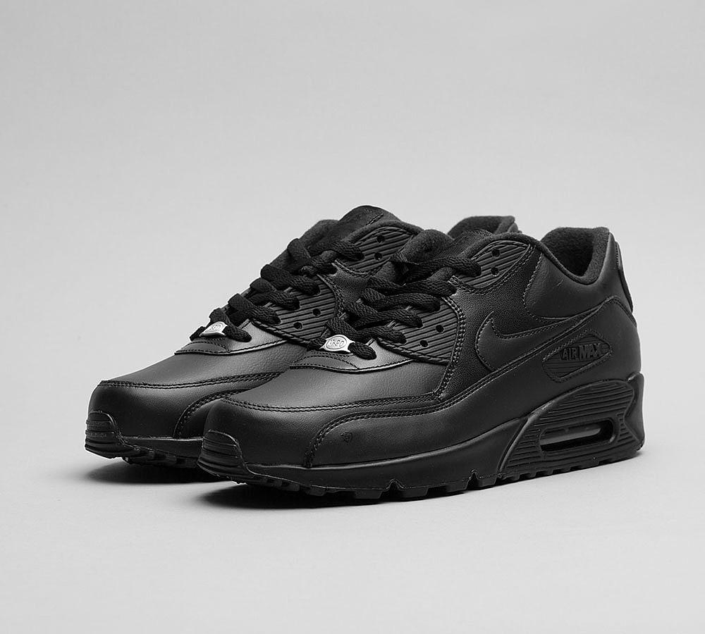 d57fe51c Кроссовки в Стиле Nike Air Max 90 Leather Black Мужские — в ...