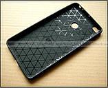Красивый черный бампер Carbon TPU для Xiaomi Mi Max 2 чехол противоударный мягкий, фото 2