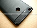 Красивый черный бампер Carbon TPU для Xiaomi Mi Max 2 чехол противоударный мягкий, фото 3