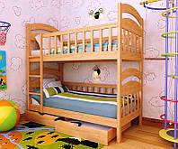 """Кровать двухъярусная детская подростковая от """"Wooden Boss"""" Даниель (спальное место 80х160)"""