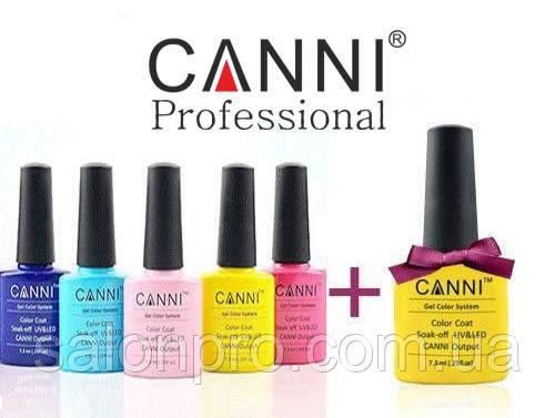 5 гель-лаков CANNI + гель-лак CANNI в подарок