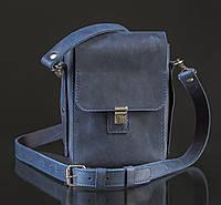 Кожаная мужская сумка Praktik | Винтажный Синий, фото 1