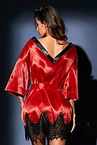 Халат короткий красный, фото 3