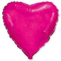 """Фольгированное сердце 18"""" (45 см) малиновое ме flexmetal"""