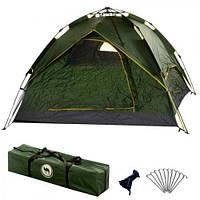 Палатка для отдыха зеленая 2*2*1.35 м ( палатка туристическая )