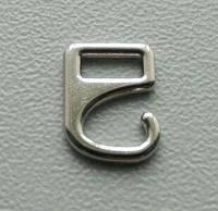 Регулятор бельевой для бретели, застежка-крючок серебро метал 5мм
