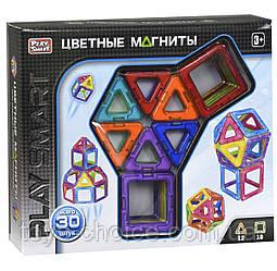 """Магнитный Конструктор """"Цветные Магниты"""" Play Smart 30 Деталей Ps"""