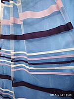 Фатиновая тюль с тканьевыми  полосками Оптом и на метраж Высота 3 м, фото 1