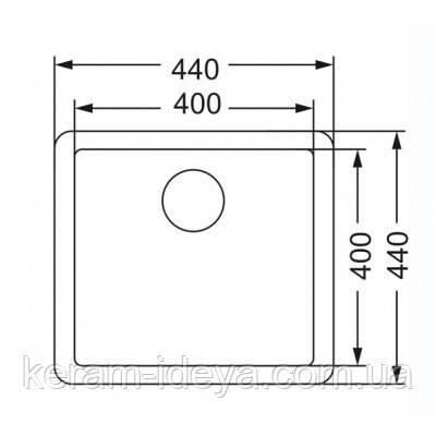 Мойка Asil Drawn 400x400 AS 354-R15, фото 2