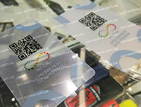 Прозрачные пластиковые визитки на заказ