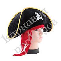Шляпа Пирата велюр с повязкой, фото 1