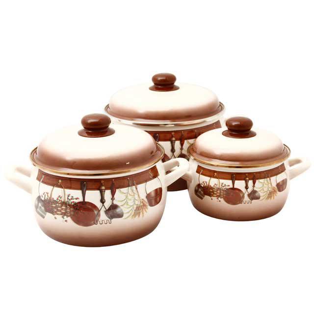 Набір посуду 2,2 л.,4л.,5,3 л. 2298 Кухня Металац Метрот 116684