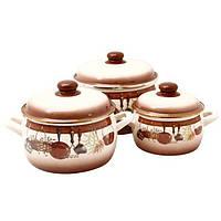 116684 Набор посуды 2,2л.,4л.,5,3л.2298 Кухня Металац Метрот