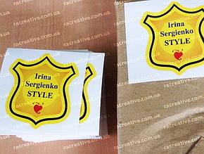 Печать квадратных наклеек на заказ
