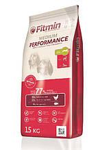 Fitmin dog medium performance Фитмин Перформенс Корм для собак середніх та великих порід з підвищеною активністю, 15 кг