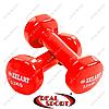 Гантели для фитнеса0,5кгс виниловым покрытием BeautyTA-5225-0,5 (2шт, цвета в ассорт.)