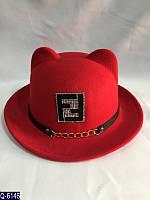 Женская шляпа  56-59 см  искусственный фетр — купить оптом и в Розницу в одессе  7км
