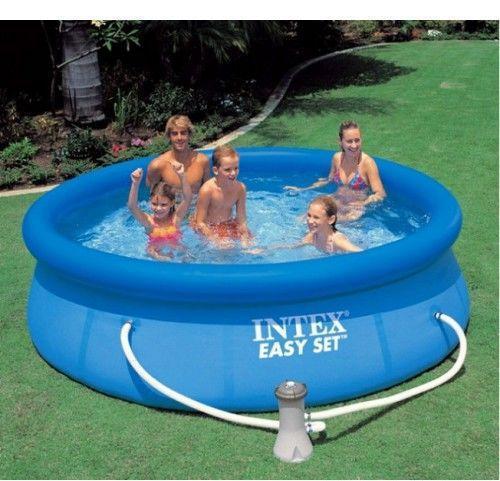 Intex Бассейн наливной 28112 фильтр-насос, размер 244х76см, объём 2420л, вес 6,3кг