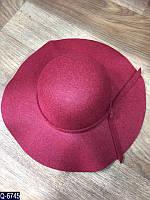 Женская шляпа  56-58 см  искусственный фетр — купить оптом и в Розницу в одессе  7км