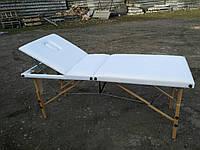 Стол массажный, кушетка для наращивания ресниц, шугаринга 3 СЕКЦИИ ШИРИНА 70см белый