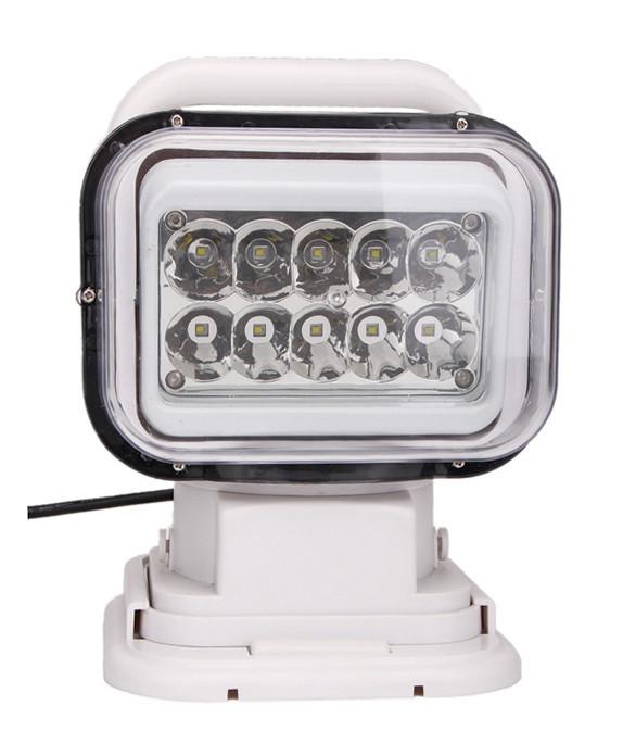 Прожектор для човни, катери, яхти LED523 точковий білий 3200lm 50W з пультом