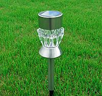 Светильник садово-парковый Lemanso CAB 91 (белый+RGB кристалл) на солнечной батарее LED