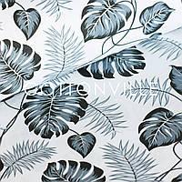 ✁ Отрезы бязи Пальмовые листья монохром, фото 1