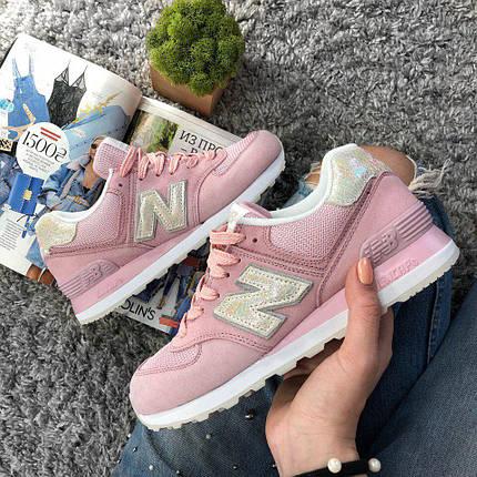 Размер 36, 40 и 41 !!! Женские кроссовки New Balance 574 Pink/ Реплика / 1:1 к оригиналу, фото 2