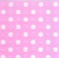 """Салфетки бумажные """"Горох розовый"""" 20шт/уп"""