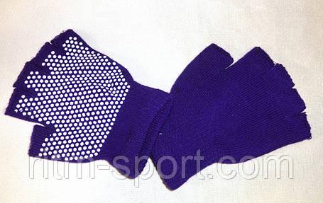 Перчатки для йоги и фитнеса с открытыми пальцами, фото 2