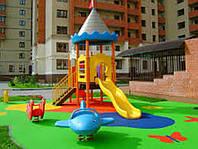 Резиновая плитка для спортзала, для детской площадки