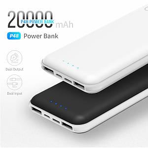 Power Bank Rock 20000mAh. Реальная емкость! Портативное зарядное устройство. Черный