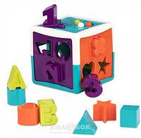 Развивающая игрушка сортер Battat Умный куб (12 форм), фото 1