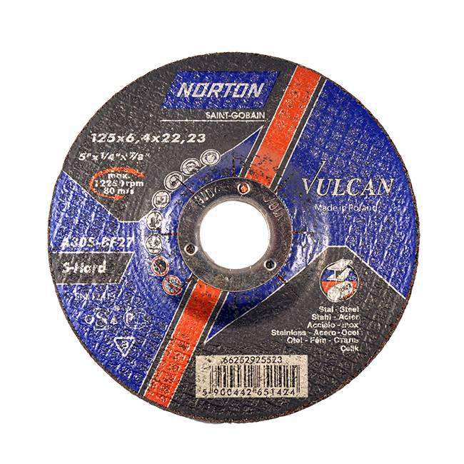 Круг зачисний Norton Vulcan Ø 125x6.4x22.23
