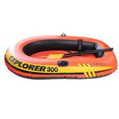 """Надувная лодка Intex 58331 """"Explorer 200"""" (185-94-41 см, насос, весла)"""