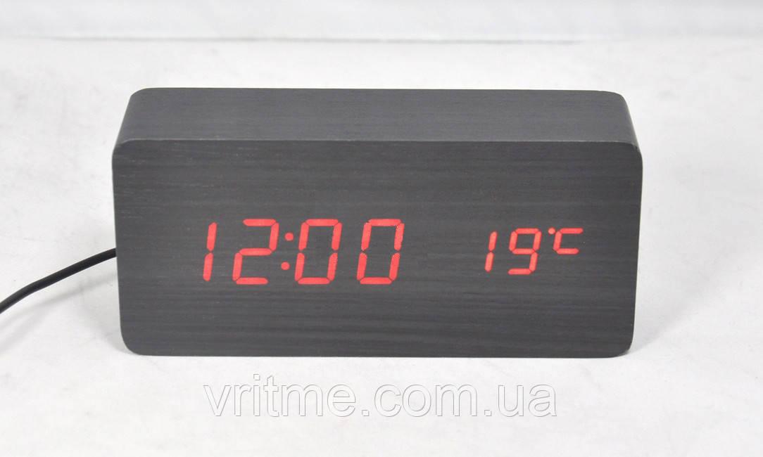 Электронные часы Led Wooden Clock VST-862 с будильником и температурой -  Интернет-магазин 6d4f279168a