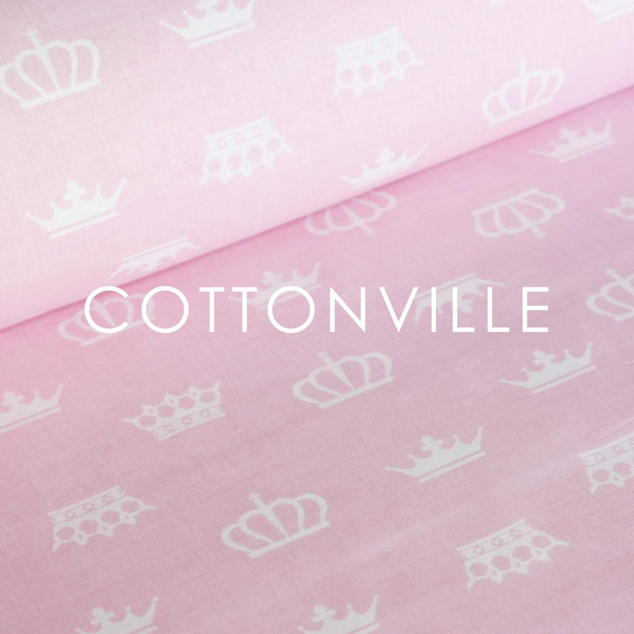 ✁ Отрезы бязи Короны на нежно-розовом