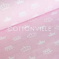 ✁ Отрезы бязи Короны на нежно-розовом, фото 1